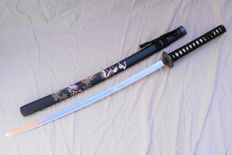 Katana, black with dragon - China - 21st century (102 cm)