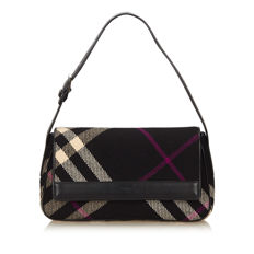 Burberry - Wool Plaid Shoulder Bag