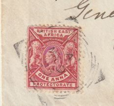 Uganda 1899 - Missionaries, High Value on Cover to South Africa