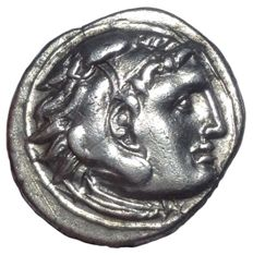 Ancient Greek - Macedonian Kingdom - Alexander III, The Great (336-323 BC) - AR Drachm (Silver, 18mm, 4.24gm), Abydos mint c. 310-301 BC - SNG Cop. 994