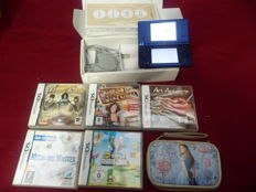 Nintendo console Dsi Systeem boxed including 5 games Like New Super Mario Bros + Art Academy and more