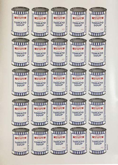 Banksy - Tesco Value Cream of Tomato Soup Cans Poster - Catawiki