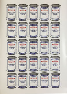Banksy - Tesco Value Cream of Tomato Soup Cans Poster