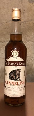 Clynelish 17 years bottled 1998 - The Manager's Dram - OB