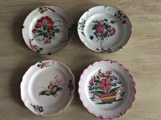 Fayence plates hand painted Strasbourg, second half 19th century