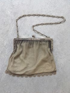 Antique silver purse - France - 19th century