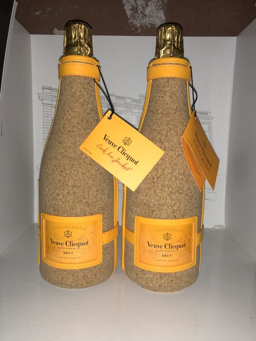 Veuve Clicquot Brut with Ltd Ed. design Liege casing - 2 bottles (75cl)