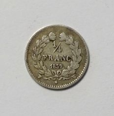 France - ¼ Franc 1839 W (Lille) - Louis Philippe - silver