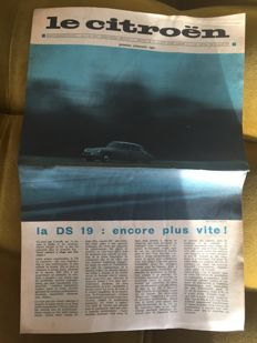 Original Citroën newspaper issue - First quarter 1961