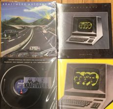 Four albums of Kraftwerk || Sealed || Good quality || Coloured vinyl