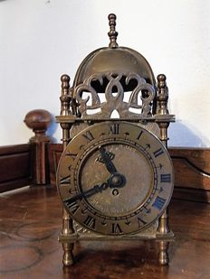Mini - Copper - Latern clock - Smiths Englisch Clocks Ltd - England - around 1830