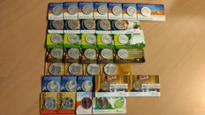 Netherlands - 2 euro, 5 euro and 10 euro 2009/2013 (35 pieces) in coin cards