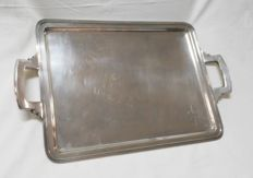 Silver tray in Art Déco style and with plain decoration - Spain - circa 1930/40
