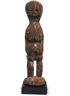 Antique BO USU Ritual Fetish on a stand - BAULE - Cote d'ivoire