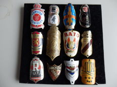 Collection of 12 Nice Bicycle Head Badges, with some rare ones including - Muntendammer Kroon and Bato and others