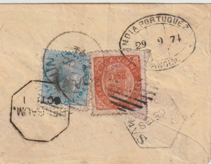 India 1874 - Portuguese Colonies - Bombay, On Cover
