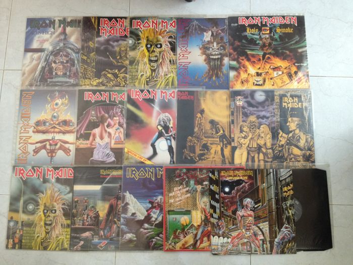 IRON MAIDEN 14 Maxi singles and 2 Albums