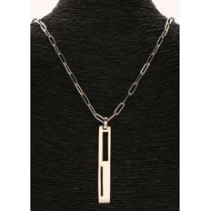 925 silver anchor link necklace with pendant from the brand MEXX - Length: 45 cm - Pendant length: 5 cm.