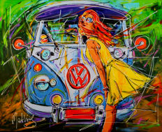 Mathias - Yellow girl and vw bus