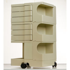 Joe Colombo for Bieffeplast - A white 'Boby' trolley with three wheels.