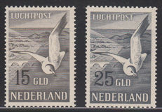The Netherlands, 1951, airmail seagulls, NVPH LP12/LP13, with expert certificate