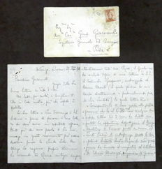 Autograph; Original letter by Pietro Mascagni about his son - 1918