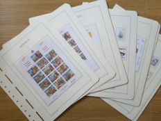 Monaco 1997/2001 - 5 complete years on Leuchtturm sheets with booklets, block-sheets - Yvert no. 2086 - 2318