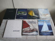 2 luxurious books, 3 glossy magazines, 1 folder with A4 posters and 1 folder shipyard Jongert