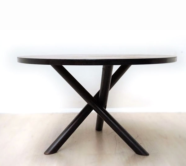 Manufacturer unknown - sculptural, round wenge dining table