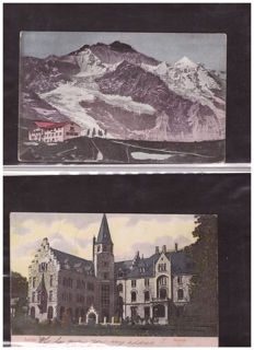 Lot of Swiss (60) and Austrian (15) landscape postcards