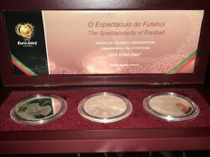 Portugal – €8 2004 – UEFA EURO 2004 – The Spectacle of Football – 3 Coins – silver