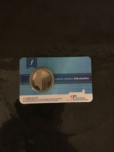 Netherlands - 2½ guilders 2001 'Last regular rijksdaalder' in coincard