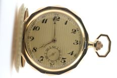 "Savonette pocket watch – engraved with ""AS"" on the lid"