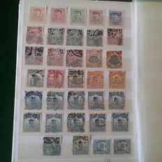 Asia - stamps in stock book