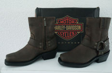 Harley Davidson - Leather motorcycle boots - Boots - Shoe size USA 6, UK 4, EU 37.
