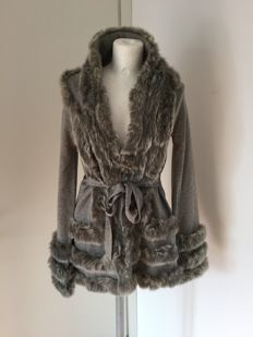 Roberto Cavalli - Coat/cardigan in cashmere and wool with genuine fur