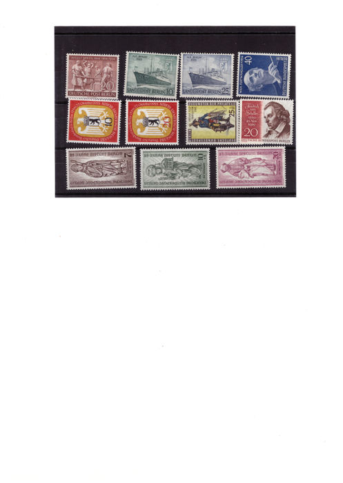 Berlin 1955 to 1990 collection of postage stamps