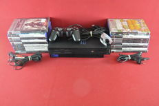 Playstation 2 console with Eye toy and 17 Playstation 2 games