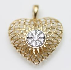 Diamond Pendant, 18K gold - No Reserve