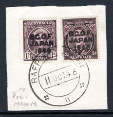 Australia - Occupation Japan 1946 - BCOF Overprints,Pre-release usage