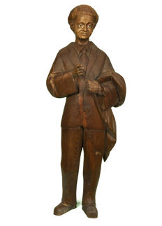 Magnificent wood carving of Santo Domingo Savio - End of the 19th century or beginning of the 20th. Spain.