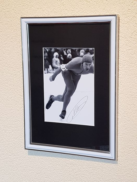 Piet Kleine - Olympic legend - Gold medallist Olympics Insbruck 10 km 1976 - hand-autographed framed photo + COA