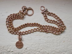 Victorian 9 ct gold watch chain converted to a bracelet