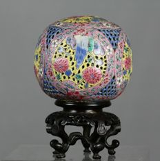 Rare perfume holder/pomander, China - 18th century