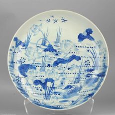 Large porcelain charger,  marked Base  - China   - Late Qing Dynasty, ca 1910