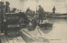 "Monaco - Meeting of boat races in 1913 - Old postcard - Bateau le Le Quatre "" Essence Motricine """