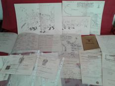 Various original documents no. 11 + 1 original booklet + 5 Italy / Germany / Czechoslovak Republic reprints from the 1900s/50s