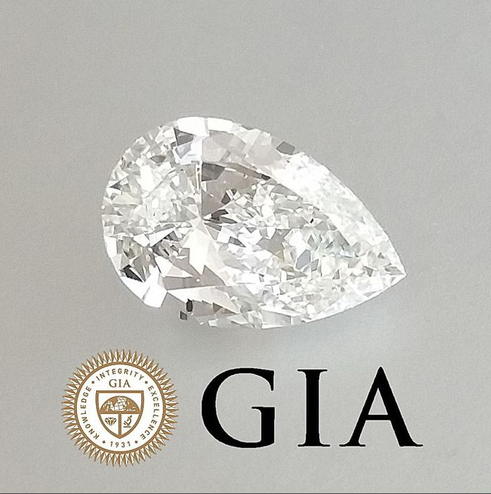Diamond Pear Brilliant 0.50 ct GIA certified with laser inscription