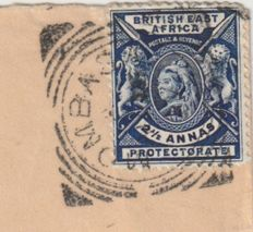 Uganda 1897 - Missionaries, Local Issues on Cover to England