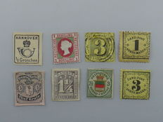 FRG - Old Germany - Michel no. 1, 8, 7, 6, 17, 2, 1, 17 - small selection